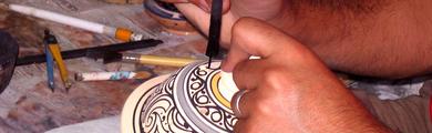 caisselle-orientale-decor-peint-a-la-main