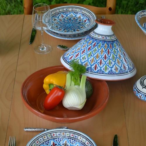 Service tajine assiettes creuses Jileni tutquoise - 6 pers