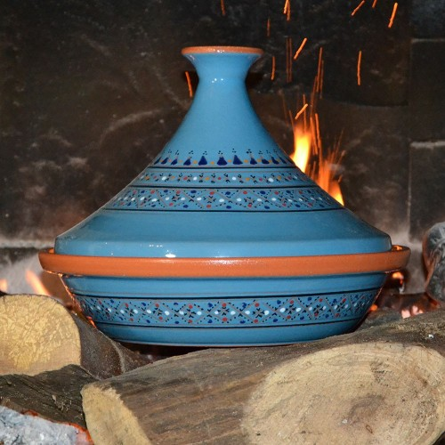 Tajine Marrakech Bleu - Diam 31 cm traditionnel