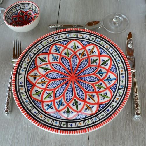 Assiette plate Jileni rouge - Diam 28 cm