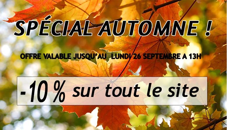 Spécial automne : - 10 % sur tout le site !
