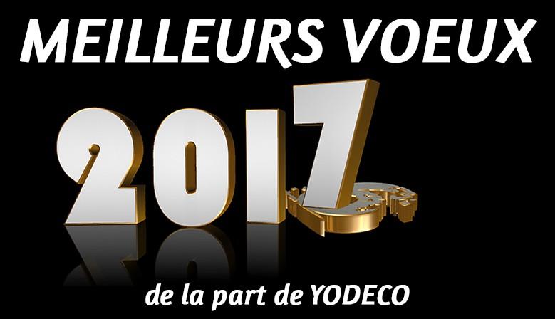 Meilleurs voeux 2017 de la part de Yodeco - Vaisselle orientale, service a couscous, service de table, tajine, cendriers.