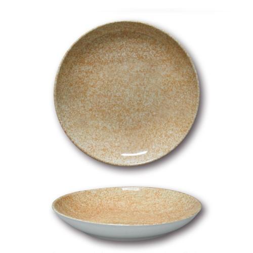 Lot de 6 assiettes à couscous - D 26 cm - Moucheté beige