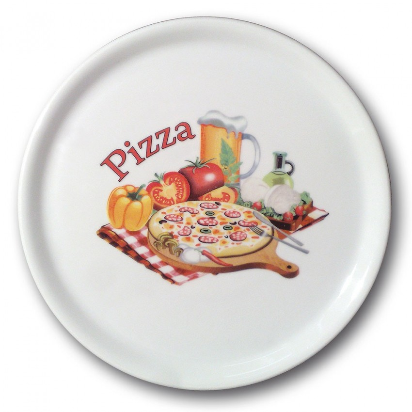 Lot de 6 assiettes à pizza Venise - D 31 cm - Napoli