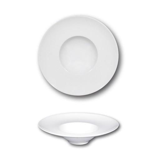 Petite assiette à risotto en porcelaine blanche - D 20 cm - Napoli