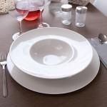 Lot de 6 assiettes à risotto en porcelaine blanche - D 27,5 cm - Napoli
