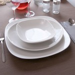 Assiette carrée porcelaine blanche - L 26 cm - Danubio