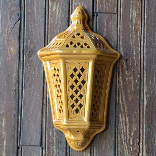 Applique murale Lanterne d'Ali Baba Jaune Moyen Modèle