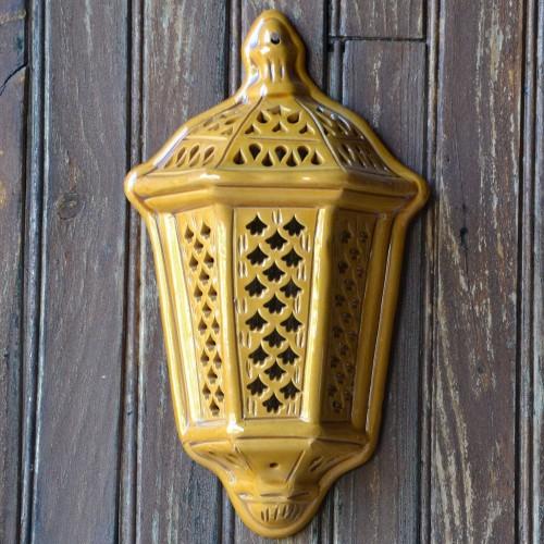 Applique murale Lanterne d'Ali Baba Jaune Petit Modèle