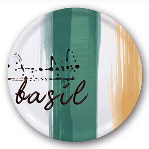 Assiette à pizza Basilic - D 31 cm - Napoli