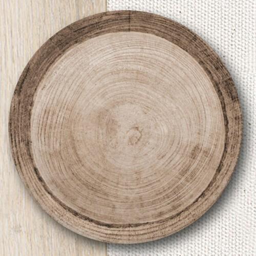 Service de table Effet Bois - 19 pièces