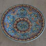 Plat rond Thyna - Pièce unique - D 33 cm