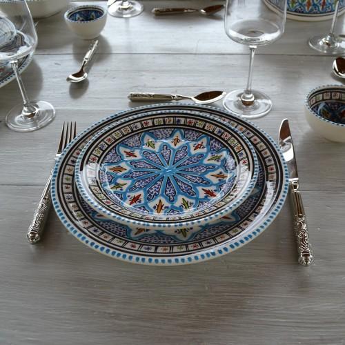 Assiette à entrée ou dessert Jileni turquoise - D 20 cm