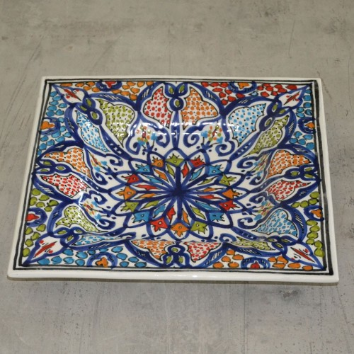 Plat carré décoratif Tunis - 31 cm