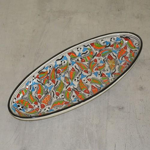 Plat ovale Poissons - L 53 cm