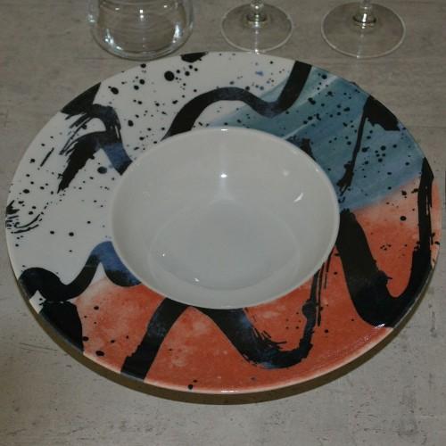 Lot de 6 assiettes à risotto Pollo - D 27,5 cm - Napoli