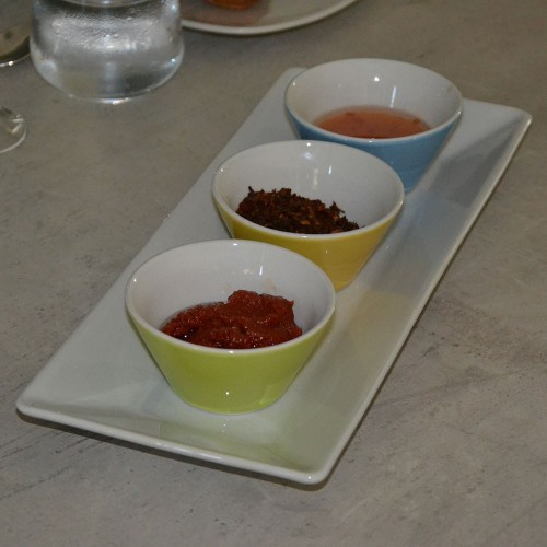 Service plat rectangle avec bols