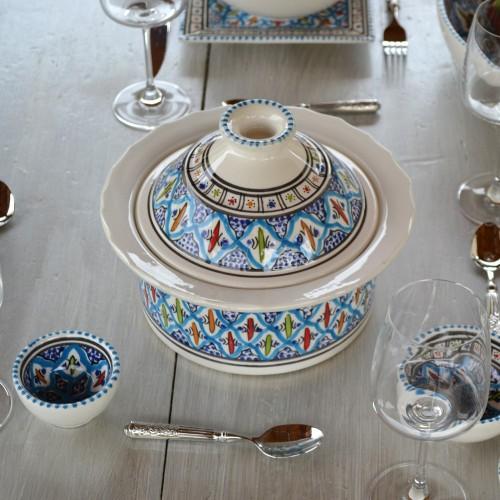 Cocotte Querouana Jileni turquoise - D 20 cm