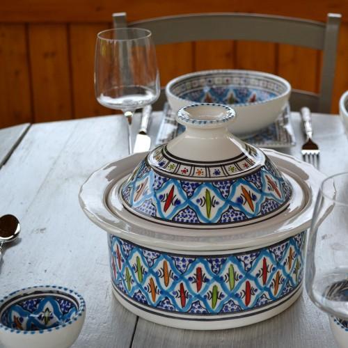 Cocotte Querouana Jileni turquoise - D 25 cm