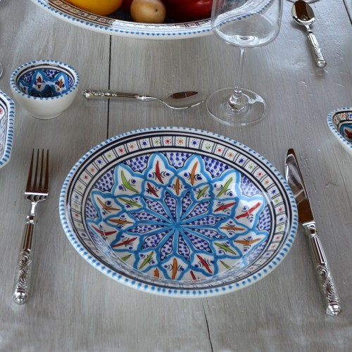 Assiette creuse Bakir turquoise - D 24 cm