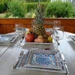 Assiette carrée Bakir turquoise - L 24 cm