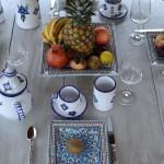 Plat carré Bakir turquoise - L 30 cm
