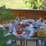 Service à couscous assiettes Tebsi Kerouan orange et blanc - 6 pers