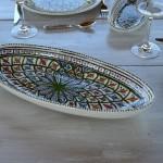 Plat ovale Bakir vert - L 40 cm