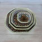 Plat octogonal Bakir vert - L 25 cm