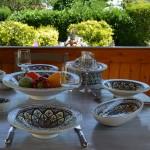 Assiette creuse Tebsi Bakir rouge - Diam 23 cm