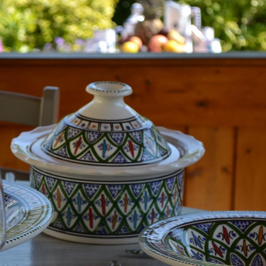 Cocotte Querouana Bakir vert - D 25 cm