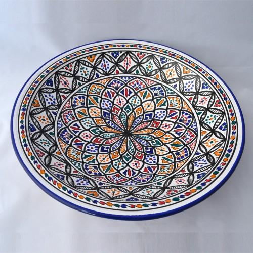 Plat rond Carthage - Pièce unique - D 41 cm