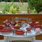 Service à couscous assiettes jattes Tatoué rouge - 6 pers