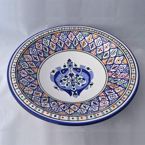 Plat rond Gabès - Pièce unique - D 41 cm