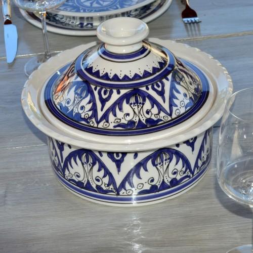 Cocotte Querouana Nejma bleu - D 25 cm