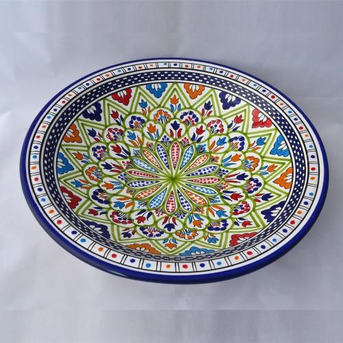 Plat rond Kasbah - Pièce unique - D 41 cm