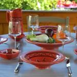 Assiette Tebsi Tatoué rouge - D 23 cm