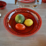Jatte Tatoué rouge - D 31 cm