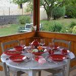 Assiette creuse Tatoué rouge - D 24 cm