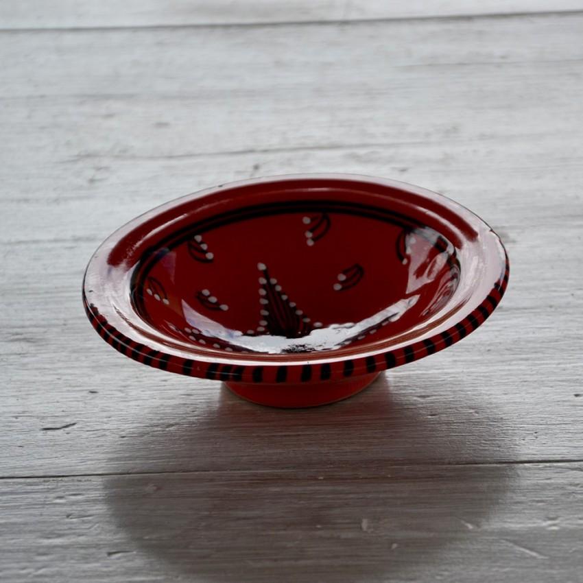 Assiette Tebsi Tatoué rouge - D 14 cm