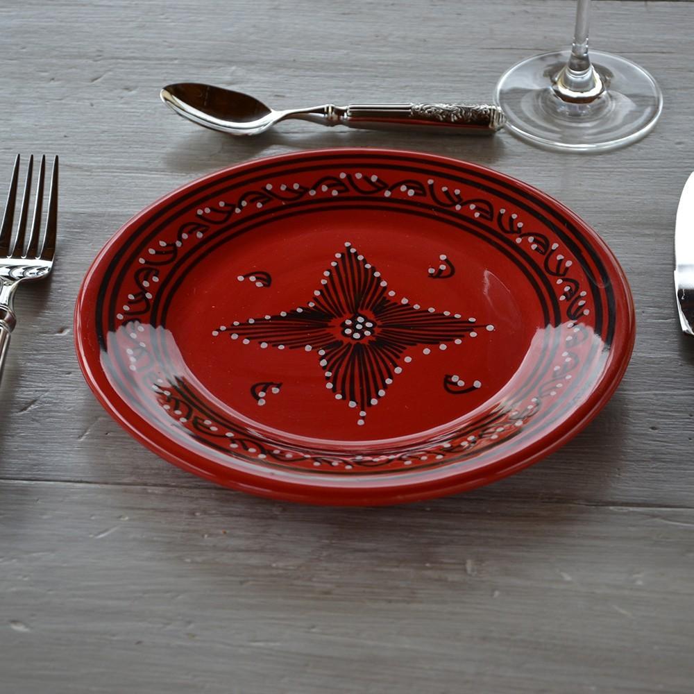 Assiette plate tatou rouge d 24 cm - Grossiste en vaisselle de table ...