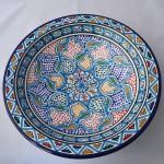 Plat rond Zaghouan - Pièce unique - Diam 31 cm