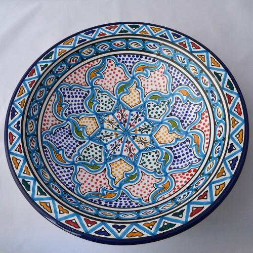 Plat rond Zaghouan - Pièce unique - D 37 cm