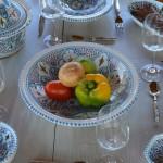 Plat Tebsi Marocain turquoise - D 33 cm