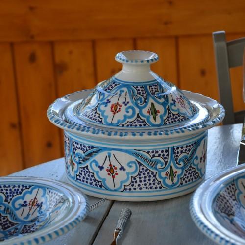 Cocotte Querouana Marocain turquoise - D 20cm