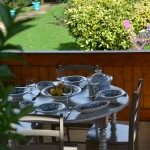 Service à couscous Marocain turquoise assiettes Tebsi - 6 pers