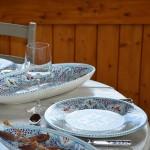 Assiette plate Marocain turquoise - D 28 cm
