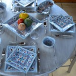 Assiette carrée Marocain turquoise - L 24 cm
