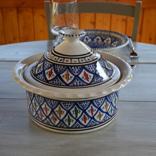 Cocotte Querouana Jileni bleu - D 25 cm