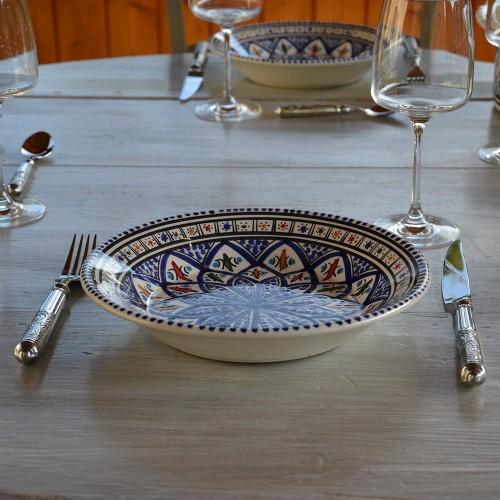 Assiette creuse Jileni bleu - D 24 cm